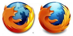 Links das bisherige, rechts das neue Firefox-Logo