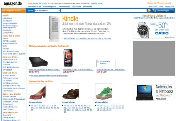 Amazon frischt das shop design auf lolliblog for Amazon design shop