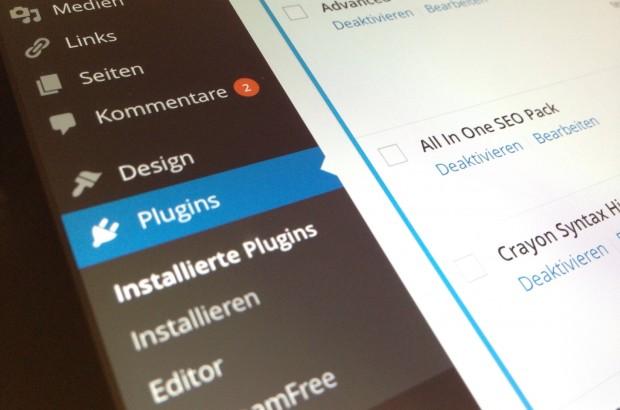 WordPress Dashboard Pluginansicht