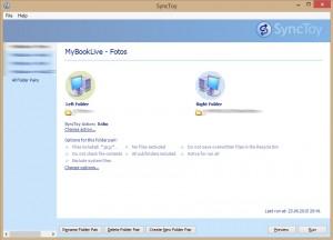 Screenshot von SyncToy