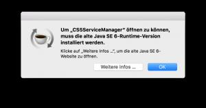 macOS Sierra Warnmeldung: Fehlendes Java Paket