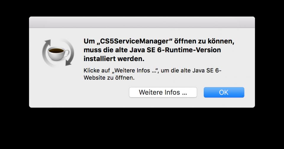 Adobe Creative Suite CS5 und macOS High Sierra | lolliblog