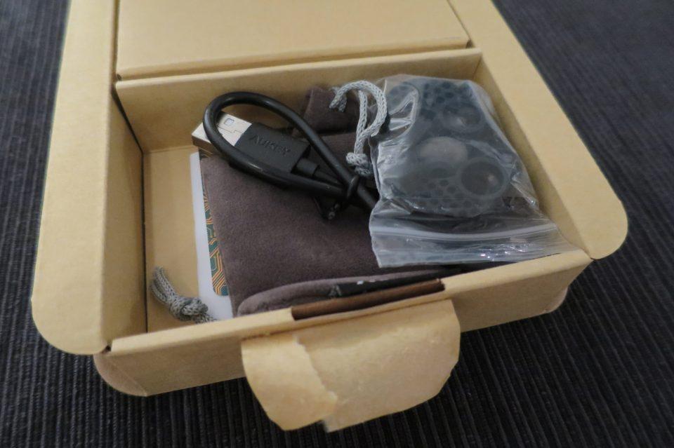 Die geöffnete Kopfhörer Verpackung