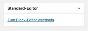 zum Block-Editor wechseln
