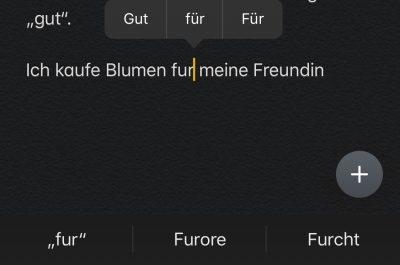 iOS 13 mit falscher Autokorrektur