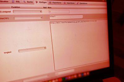 phpmyadmin: Datenbank-Manipulation rückgängig machen